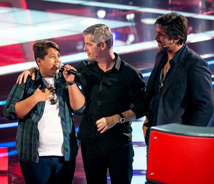 Victor & Leo apostaram na potência vocal de Juan  (Foto: Isabella Pinheiro/Gshow)