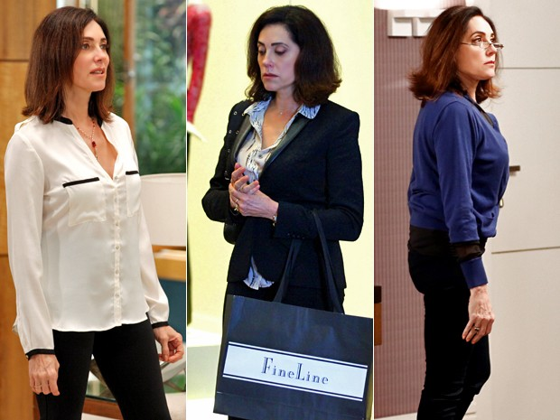 Sofisticação é a palavra-chave do estilo de Maria Inês (Foto: Artur Meninea/ Carol Caminha/ Inácio Moraes/ Gshow)