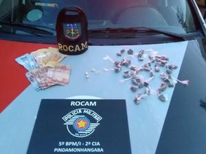 Polícia apreendeu a droga (Foto: Divulgação/PM)