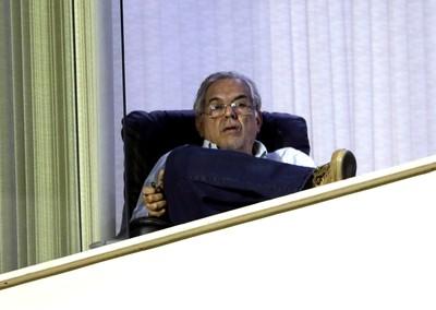Eurico Miranda, Vasco X Barra Mansa (Foto: Cezar Loureiro / Agência O Globo)