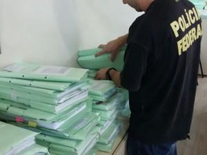 PF cumpre mandados em duas cidades de SC e em quatro do RS (Foto: Polícia Federal/Divulgação)
