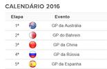 CALENDÁRIO 2016: Confira a data de todas as etapas do ano (Globoesporte.com)