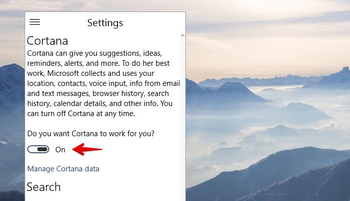 Ativando a Cortana no Windows 10 (Foto: Reprodução/Helito Bijora)
