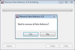 Interface Remove Fake Antivirus