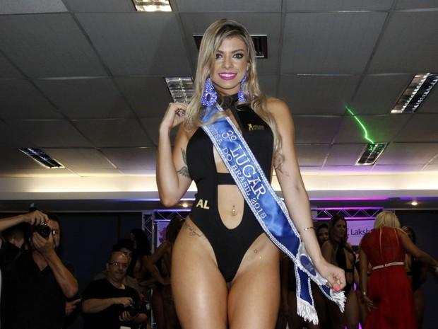 Thais Pazeto, de Alagoas ,ficou em terceiro lugar no Musa do Brasil em São Paulo (Foto: Celso Tavares/ EGO)