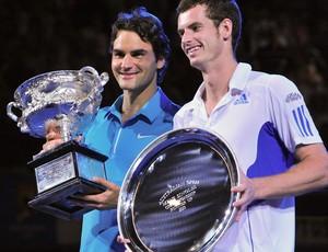 Federer e Murray aberto da austrália 2010 (Foto: AFP)