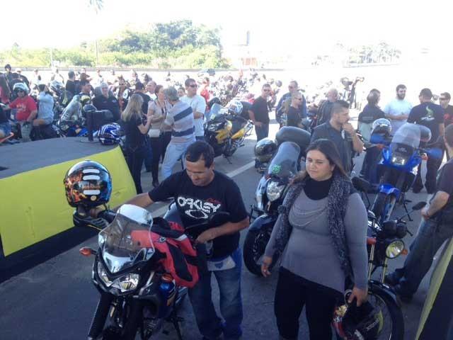 Manifestação motoqueiros Palhoça (Foto: Divulgação)