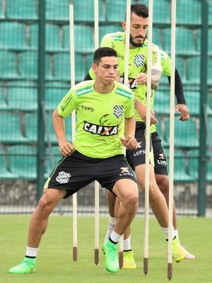 dudu figueirense atacante treino (Foto: Luiz Henrique / FFC)