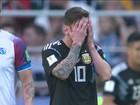 Lionel Messi decepciona na partida contra a Islândia
