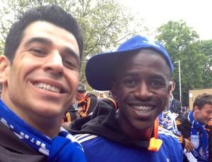 Marcelo Ribeiro Ramires massagista Chelsea (Foto: Cahê Mota / Globoesporte.com)