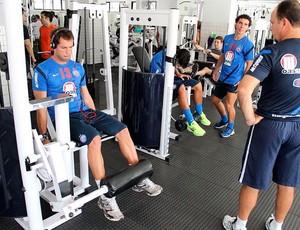 treino do bahia na academia (Foto: Divulgação / E.C. Bahia)
