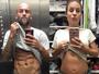 Maíra Charken, grávida, compara barriga com 'tanquinho' de namorado