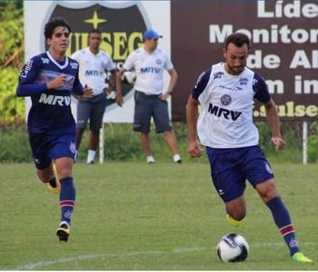 thiago ribeiro; thiago ribeiro bahia; gustavo blanco; gustavo blanco bahia; bahia; treino bahia (Foto: EC Bahia / Divulgação)