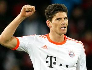 Mario Gomez gol Bayern de Munique Bayer Leverkusen (Foto: Reuters)