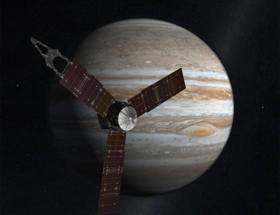 Se tudo correr bem, Juno entrará na órbita de Júpiter no final desta segunda-feira (Foto: Nasa/ Divulgação)