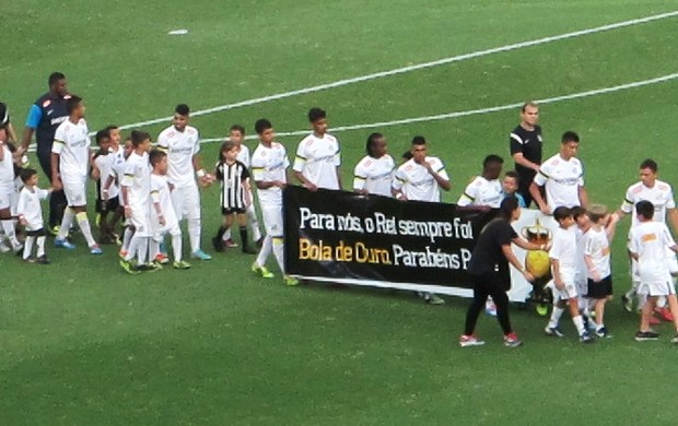 Faixa Pelé jogadores do Santos
