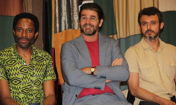 Flávio Bauraqui, Luiz Fernando Carvalho e Flávio Rocha durante o evento (Foto: Amanda Freitas/ Globo)