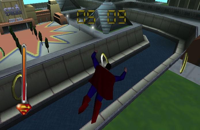 O medonho Superman 64 (Foto: Divulgação/Titus Software)