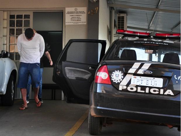 Evandro foi preso neste sábado (10) em Frederico Westphalen (Foto: Fábio Pelinson/Jornal O Alto Uruguai)