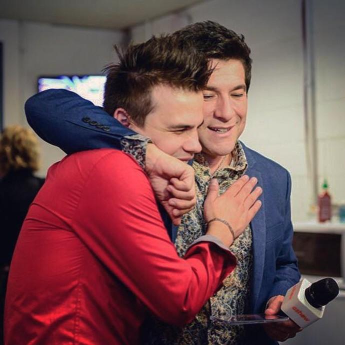 Daniel e Danilo Dyba mantiveram a amizade depois do The Voice Brasil  (Foto: Arquivo pessoal)