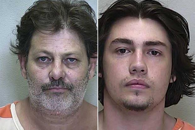 Pai e filho foram presos após roubarem casa em Ocala. (Foto: Reprodução)