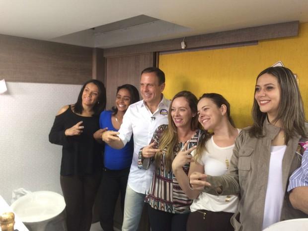 Doria em campanha pelo Brás (Foto: Filippo Mancuso/TV Globo)