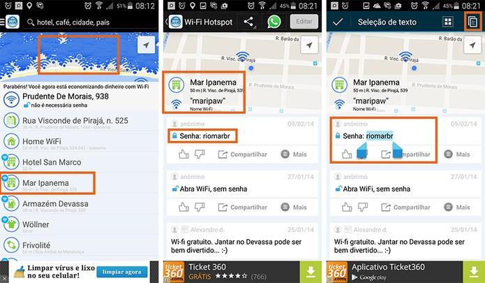 Encontre o Wi-Fi perto da localização e copie a senha para conectar (Foto: Reprodução/Barbara Mannara)