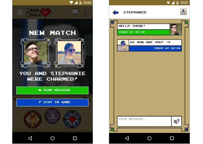App permite lançar feitiços para conquistar um usuários e habilitar conversas (Foto: Divulgação/BitInVein)