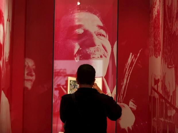 Gabriel García Márquez é o escritor homenageado da Feira Literária Internacional de Bogotá, que vai até dia 4 de maio (Foto: REUTERS/John Vizcaino)