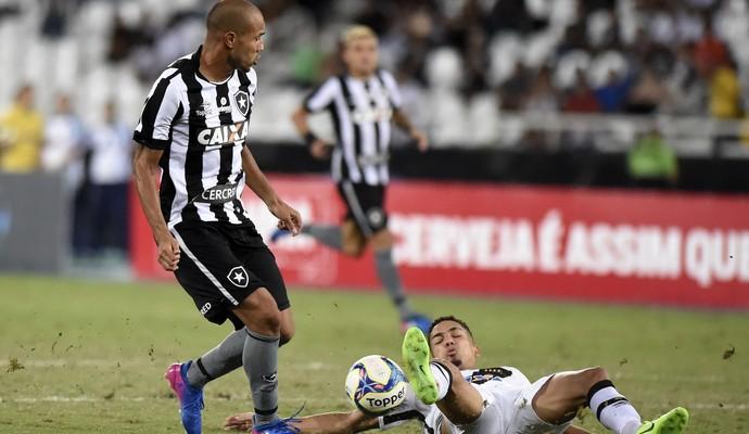 Roger e Gilberto Vasco x Botafogo (Foto: André Durão)