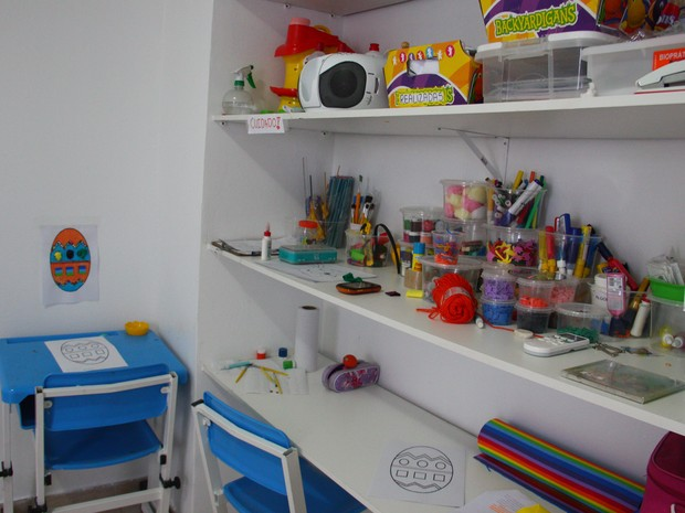 Sala de terapia de atividades da AMA (Foto: Michelle Farias/G1)
