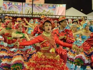 Quadrilha dança no Arraiá da Mira 2013 em Imperatriz (MA)  (Foto: Reprodução/TV Mirante)