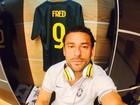 Tá chegando a hora! Fred faz 'selfie' no vestiário e recebe apoio de fãs