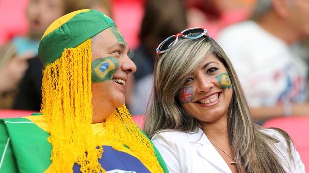 brasil x gra-bretanha futebol feminino londres 2012 olimpiadas (Foto: Reuters)