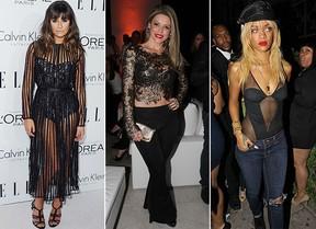 Lingerie que aparece - Lea Michele, Maria Alexandre e Rihanna (Foto: Agência Getty Images - Cláudio Augusto Foto Rio News - Agência Honopix)