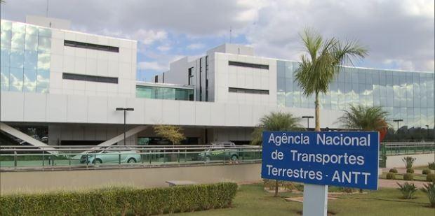 Fachada da ANTT, em Brasília (Foto: TV Globo/Reprodução)