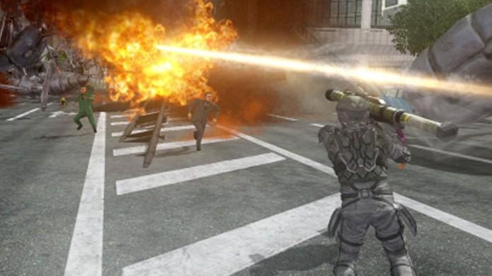 Qualquer arma que gere explosões pode ferir você mais do que os inimigos (Foto: playstationlifestyle.net)