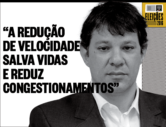 Debates Velocidade Fernando Haddad (Foto: Filipe Redondo/Ed Globo)