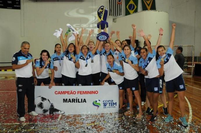Marília, campeã Copa TV TEM de Futsal (Foto: Ricardo Maurício / TV TEM)