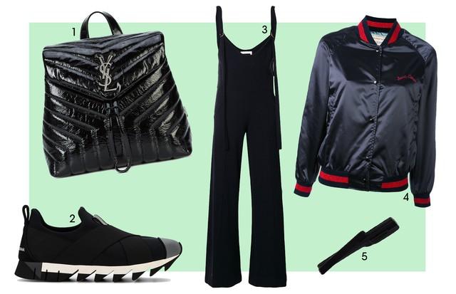 1. Saint Laurent (R$ 9.890) 2. Dolce & Gabbana (R$ 2.400) 3. Chloé (R$ 9.470) 4. Maison Kitsuné (R$ 4.190) 5. UMA (R$ 740) (Foto: Reprodução)