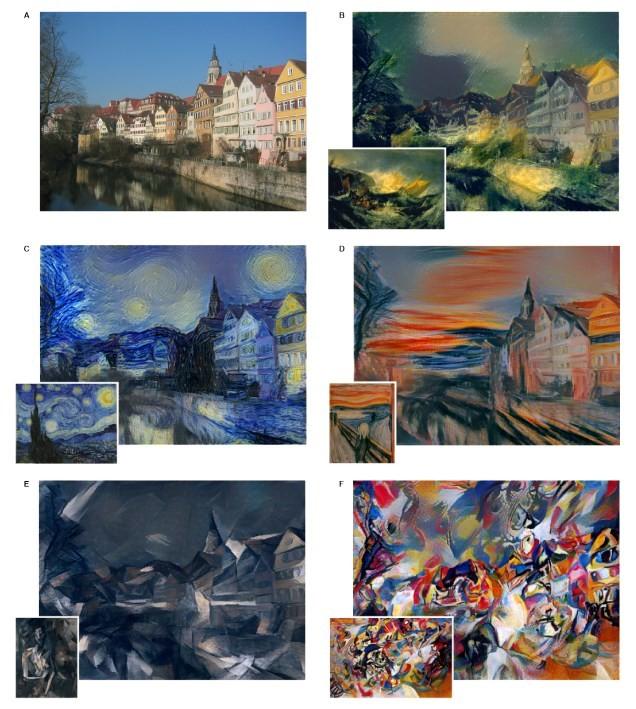 Alguns quadros famosos submetidos ao algoritmo
