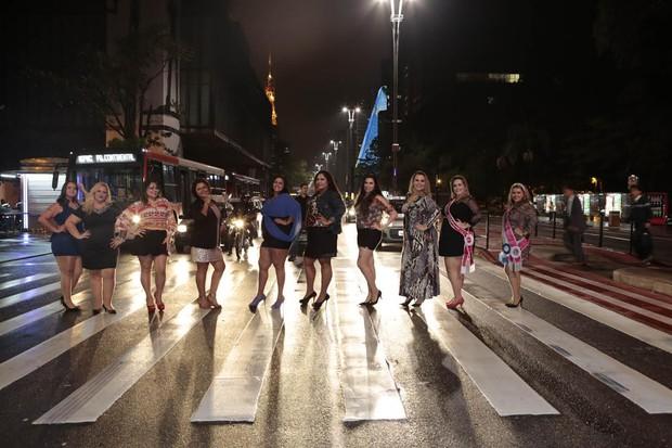 Desfile Plus Size na avenida Paulista (Foto: Rafael Cusato)