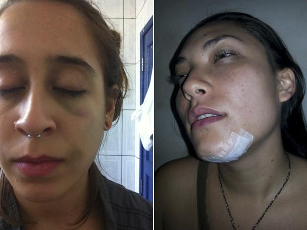 As estudantes Marcelle Ávila e Nara Costa, agredidas em república de Ouro Preto. (Foto: Arquivo Pessoal/Marcelle Ávila e Nara Costa)