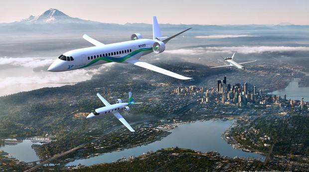 Avião híbrido da startup Zunum Aero pode chegar aos céus em 2020 (Foto: Divulgação)