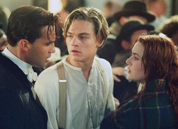 Billy Zane (Cal), Leonardo DiCaprio (Jack) e Kate Winslet (Rose) em Titanic (1997) (Foto: Reprodução)