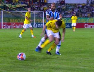 Fellipe Bastos Grêmio Ypiranga Campeonato Gaúcho (Foto: Reprodução/RBS TV)