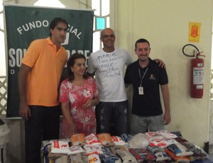Rodrigão e Carlão, Fundo de Social de Solidariedade de Santos (Foto: Tática Assessoria / Divulgação)