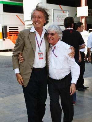 Luca di Montezemolo e Bernie Ecclesone, no GP da Europa, em Valência - junho de 2012 (Foto: Getty Images)