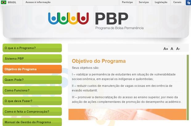 Programa de Bolsa Permanência (Foto: Reprodução/MEC)