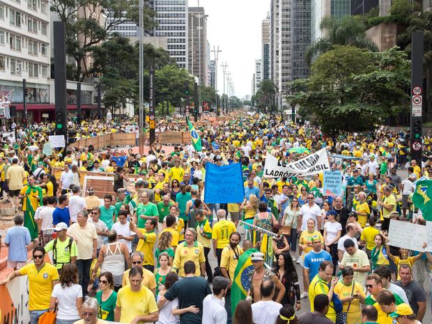 Av. Paulista, Manifestação, protesto, masp, contra dilma (Foto: Paulo Lopes/Futura Press/Estadão Conteúdo)